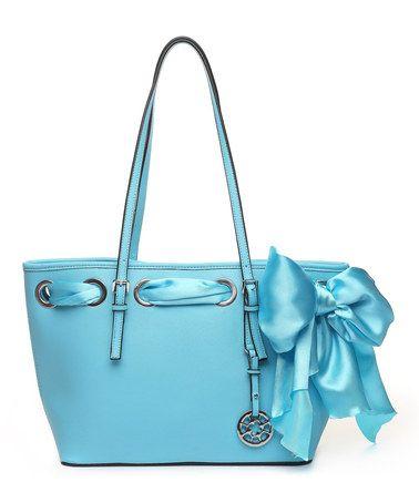Look at this #zulilyfind! Blue Aili Tote by Amore #zulilyfinds