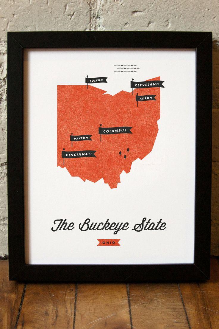 Ohio State Map 111 best Ohio images