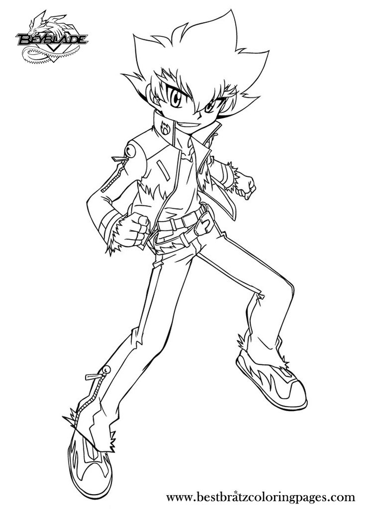 beyblade coloring pages gingka - photo#22