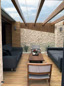 Terraza Horacio: Terrazas de estilo por Arquitectura101 + Kably Arquitectos https://www.homify.com.mx/libros_de_ideas/2378505/te-damos-20-ideas-de-terrazas-que-puedes-hacer-en-la-azotea-de-tu-casa