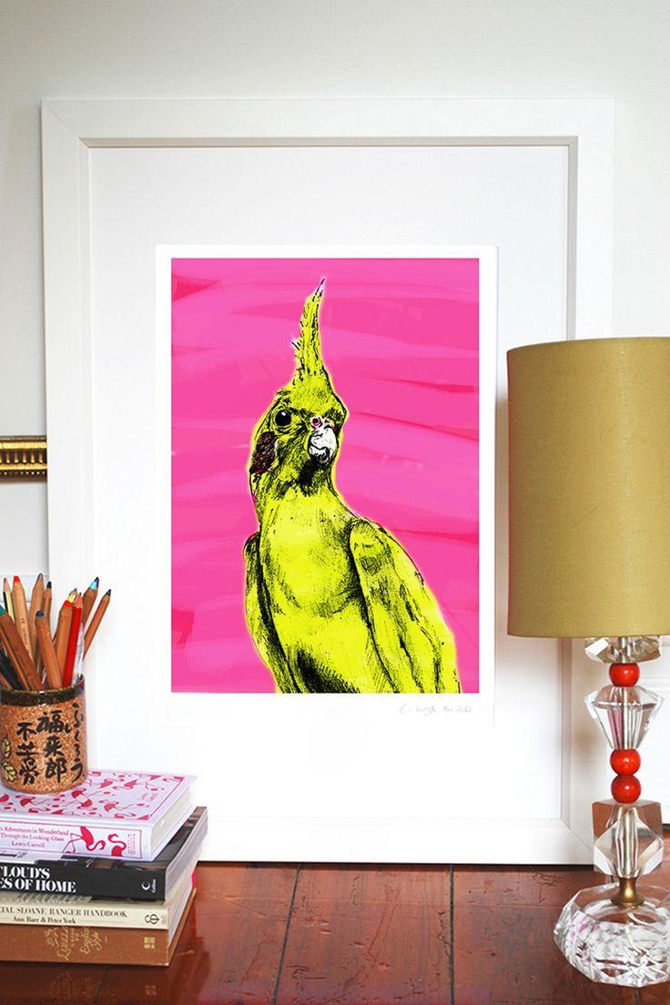 Evie Kemp 'The Cockatiel' Print available at Superette #superettestore #print