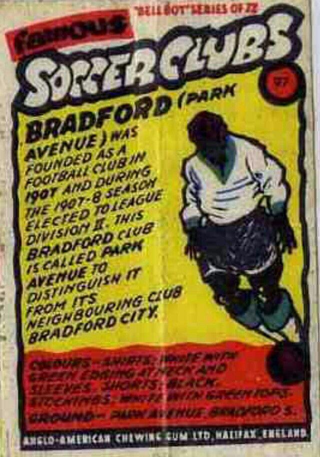 Famous Soccer Clubs - No 97 - Bradford Park Avenue.