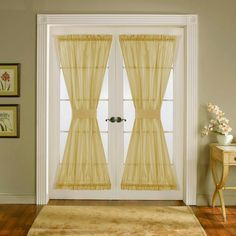 French door window treatment