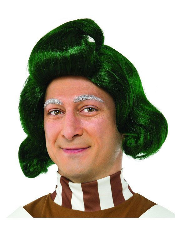Willy Wonka Wig Chocolate Factory Fancy Dress Halloween Adult Costume Accessory