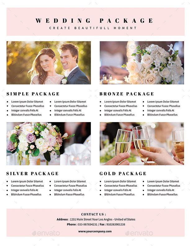 Simple Wedding Planner Flyer leaflet ideas Booklet Design