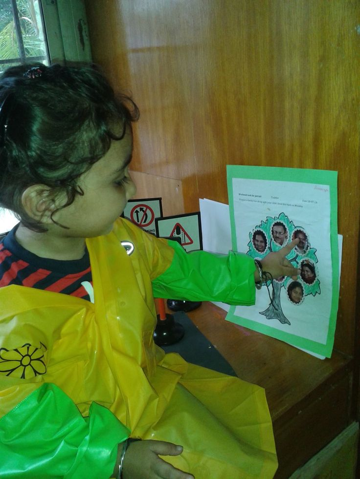 Pick of the week::: A toddler explains her family tree at the Oi Playschool Wakad, Pune, Maharashtra...