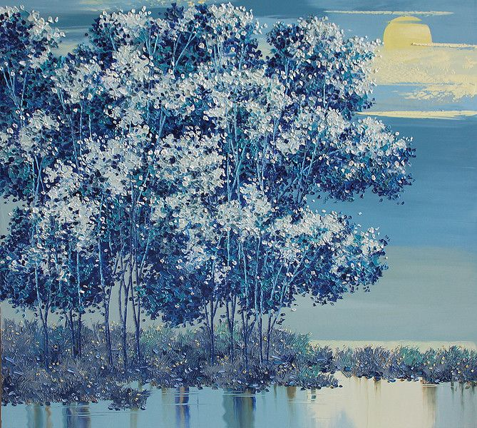 Lim Khim Katy - Glorious Moon | Oil on Canvas | (110cm x 120cm) | Private Collection - Austin, Texas