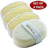 Exfoliating Loofah Bath Sponge Pads Pack Of 4 - Ultra Thick, Great For Exfoliating Shower - 100% Natural - Best Luffa Sponge And Spa Scrubber For Men And Women - Body wash sponge - http://47beauty.com/exfoliating-loofah-bath-sponge-pads-pack-of-4-ultra-thick-great-for-exfoliating-shower-100-natural-best-luffa-sponge-and-spa-scrubber-for-men-and-women-body-wash-sponge/