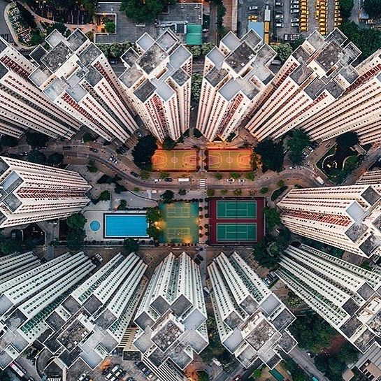 "Photographer @yeungshingfuk's new series, Walled City, offers a bird's-eye view of Hong Kong architecture. The images, taken with a drone camera, capture Hong Kong's density and striking colors. ""Even though it's is such a small place, geographically speaking,"" he tells CNN, ""you can keep interacting with it without feeling bored."" Head to @cnnstyle for more photos."