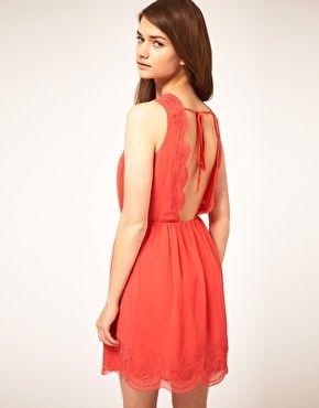 Enlarge ASOS Skater Dress with Scalloped Back