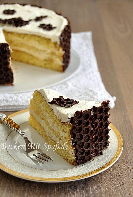 Sahne- Karamell- Torte - http://www.diypinterest.com/sahne-karamell-torte/