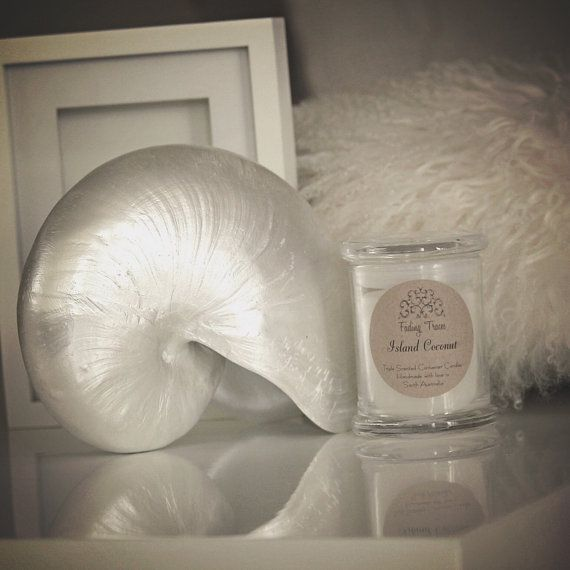 Island Coconut Triple Scented Container Candle. 40 by FadingTraces
