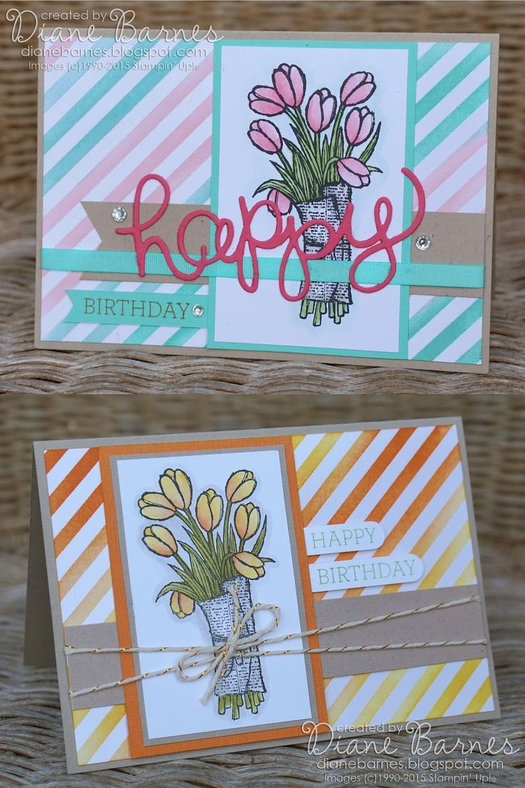 Stampin Up Love is Kindness & Crazy About You birthday cards by Di Barnes #colourmehappy