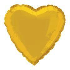 Gold Heart Helium Balloon   Wedding Anniversary Supplies