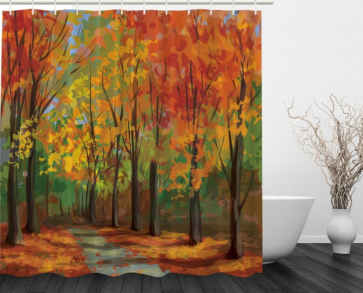 Best Fall Shower Curtain Ideas On Pinterest Yellow Shower - Autumn colours for the curtains