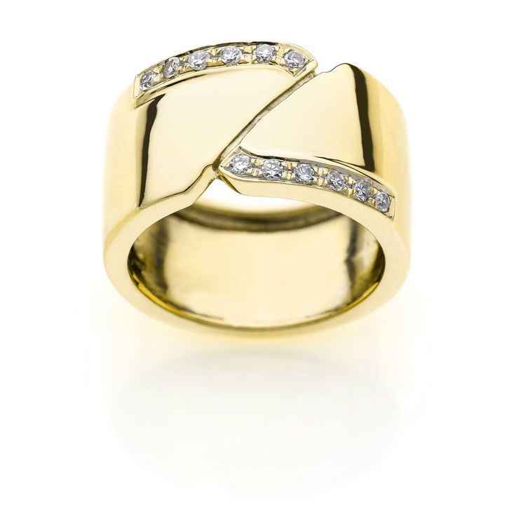 Fascia in Oro 18 kt (750/000) con Diamanti #diamonds #jewels #jewellery #ring #store #ebay #sale #gioielleriacentrooro #gioielli #anello #diamanti #spedizionegratuita #dhl