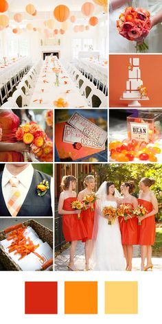 Tangerine, Orange, Yellow and Red Color Palette