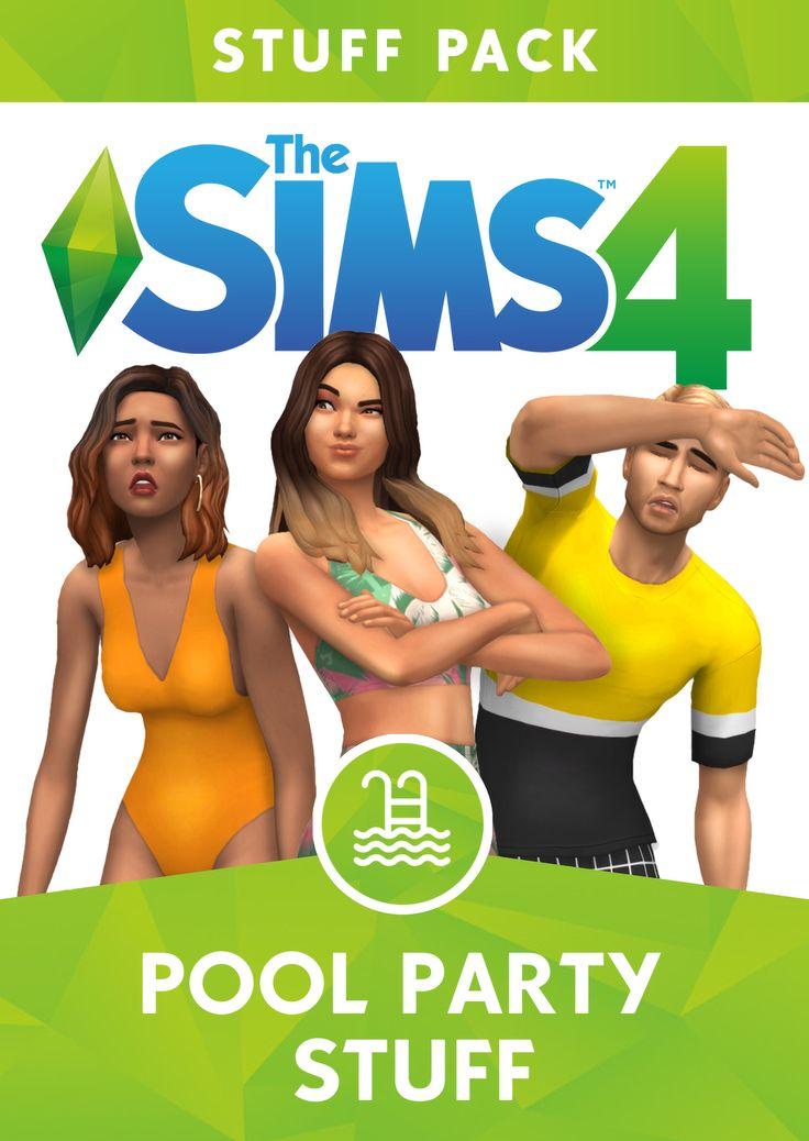 greenllamas – POOL PARTY STUFF Descrição, download e detalhes …   – Sims 4- Maxis Match CC