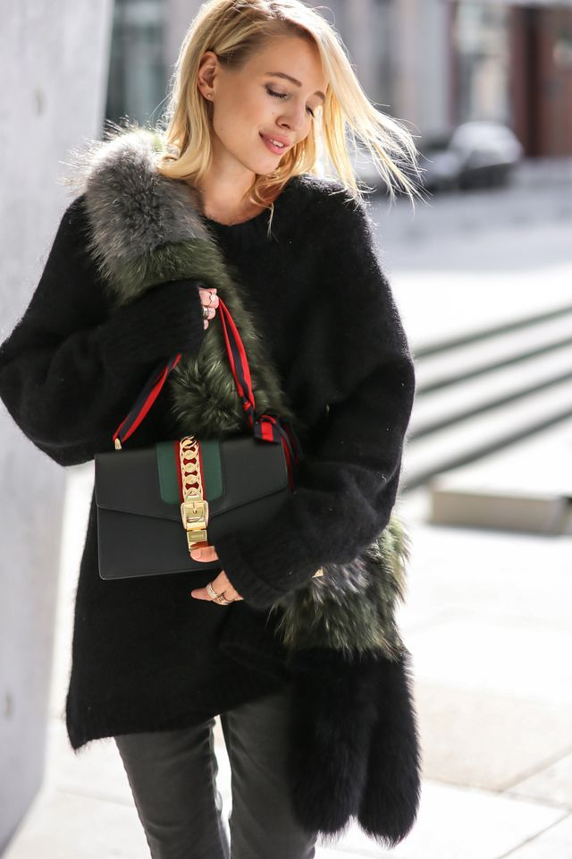 ec38453613a Gucci Sylvie bag   Acne heels