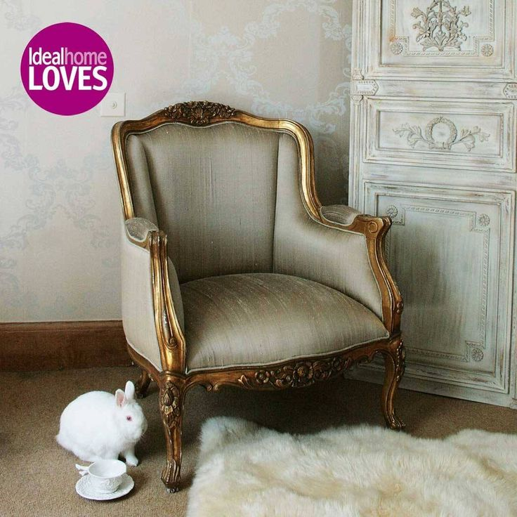 Versailles Daddy Gold Armchair | Bedroom Armchair - French Bedroom Chair