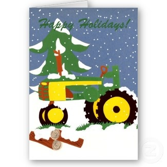 Its Snowing On This John Deere Christmas Card