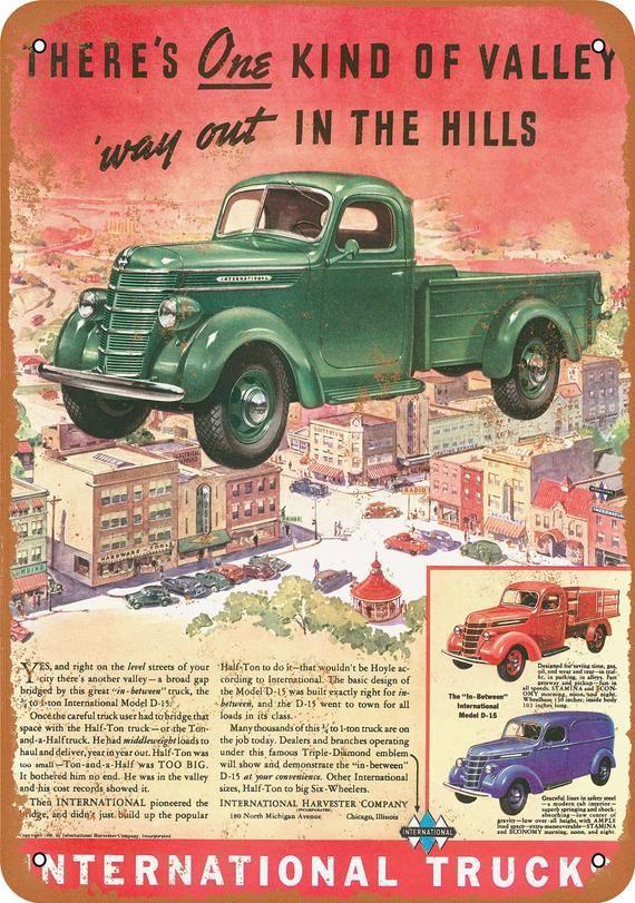 Vintage 1939 International Trucks Print Ad