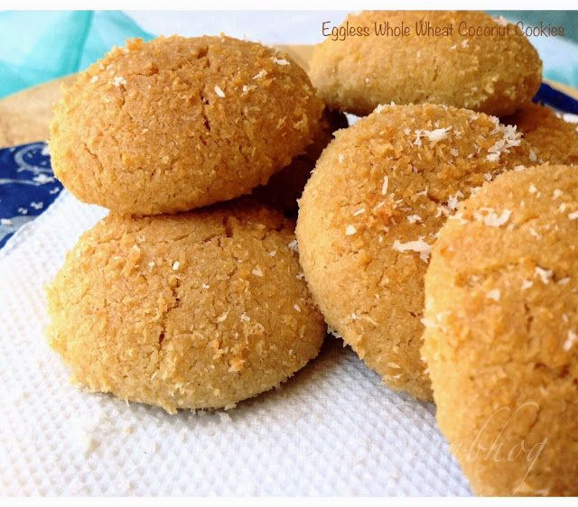 Chhapan Bhog: Eggless Whole Wheat Coconut Cookies with just 5 ingredients