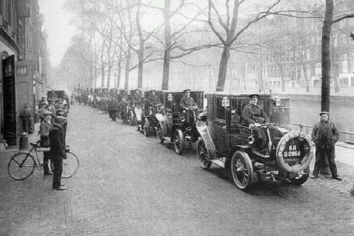 Electric Taxis in Amsterdam appr. 1900