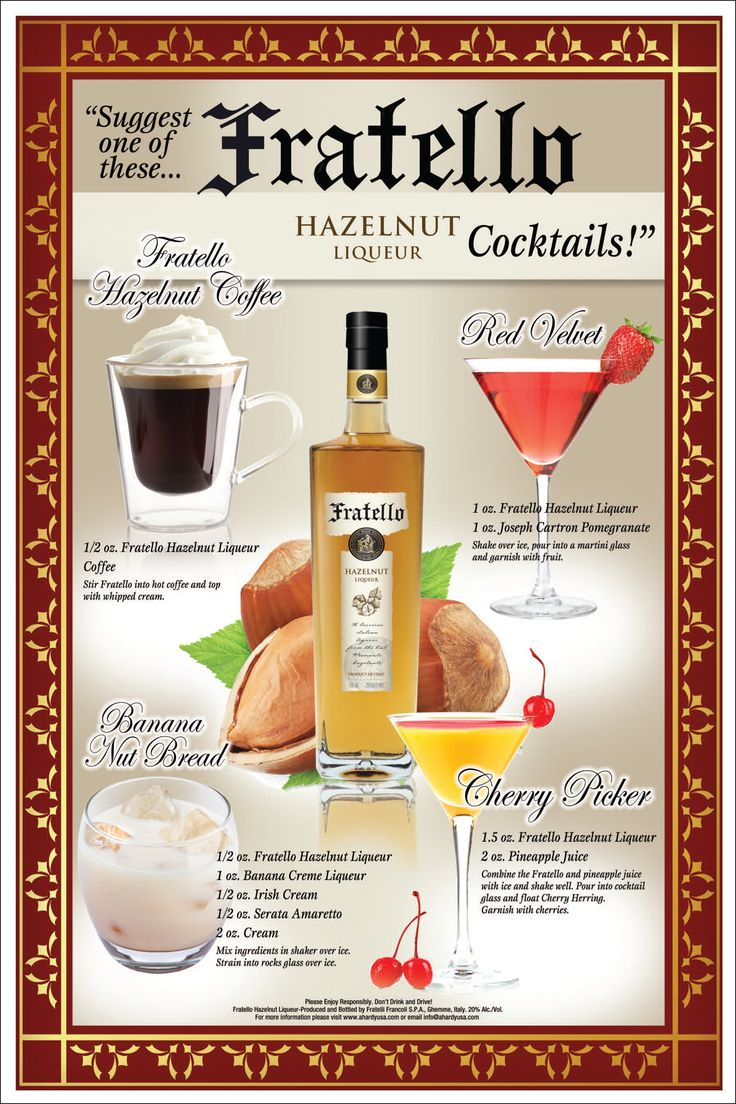 Fratello Hazelnut Liqueur Drink Recipes