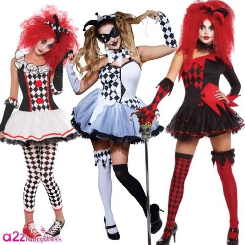 Ladies #adult #womens jester harlequin clown #halloween circus fancy dress costum,  View more on the LINK: http://www.zeppy.io/product/gb/2/142131158148/
