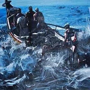 El pintor argentino Daniel Merlín hace magia con su arte. Exposición en San Lorenzo de El Escorial