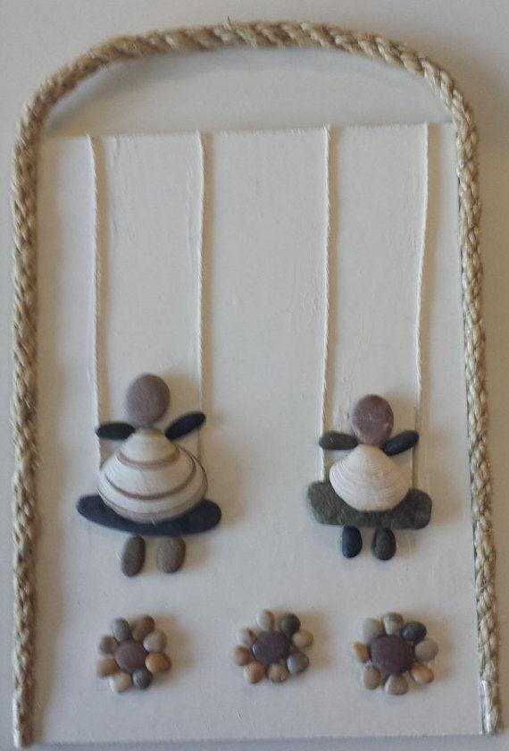 Irlandés+del+guijarro+arte+único+regalo++pared+por+PirkkosCreations
