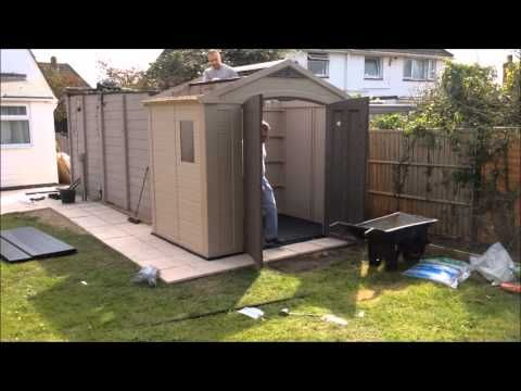 Keter Plastic Shed Construction Timelapsed Video - YouTube