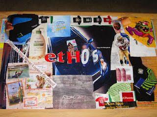 make a collage for persuasive techniques using print advertisements: Bulletin Board, High School, Persuasive Technique