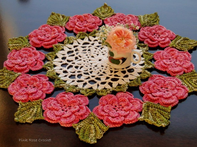 Vintage Irish Rose Crochet Doily