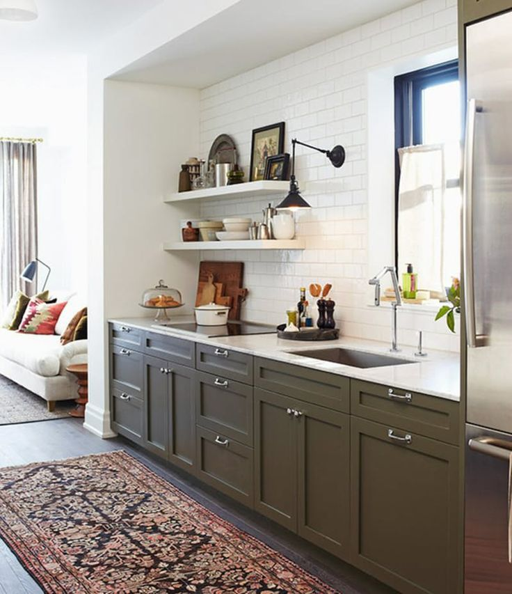 Olive And Blue Kitchen