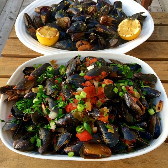 #MusselMania! Mussels two ways: grilled on the bbq with garlic herb butter and lemon or steamed in a spicy tomato, white wine broth. Which would you choose? @zimmysnook
