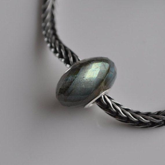 Natural Labradorite 2 gemstone bead for Pandora or от WiseOwlBead