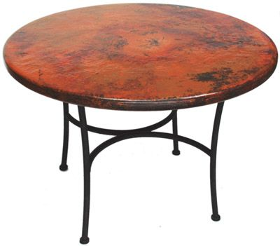 Round Copper Table Top | Kitchen tables | Pinterest ...