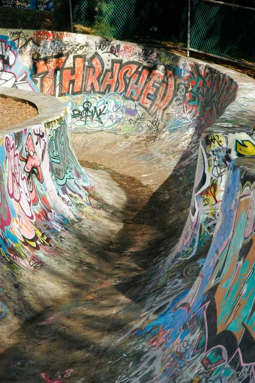 sick left over park from the 70s. 80s graffiti for skating in your 90s fashions doing 2000s tricks. never gets old.