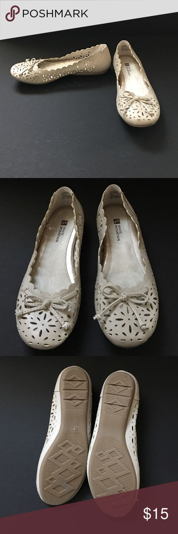 NWOT White Mountain Man Made Flats. Very cute Flat. Size 6.5, but it run small fit like a 6. New, new worn. White Mountain Shoes Flats & Loafers