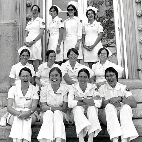 Student nurses, 1974. Visit the post for more.
