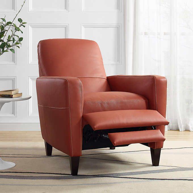 Natuzzi Terracotta Top Grain Leather Recliner Leather Recliner Sofas And Chairs Leather Sofa