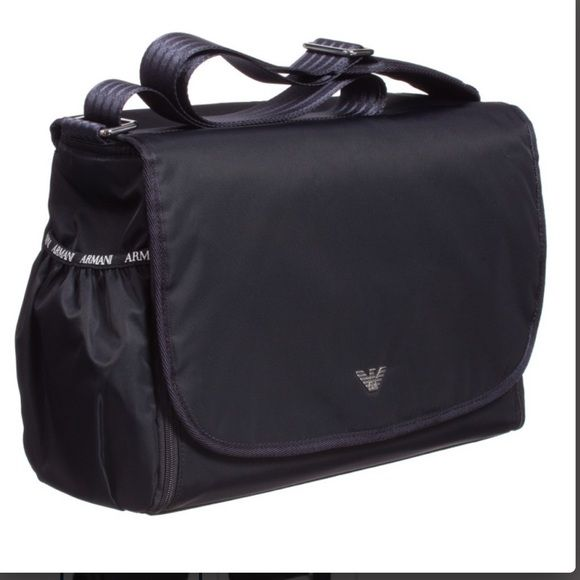 Brand New Armani Diaper Bag With Tags Georgio Dark Navy Includes Changing Pad Color Could