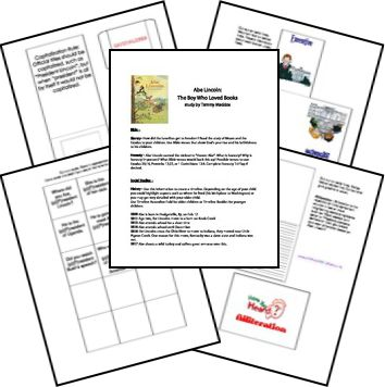 This FREE Abe Lincoln Lapbook includes themes such as president, honesty, slavery, branches of government, alliteration, and parallel construct