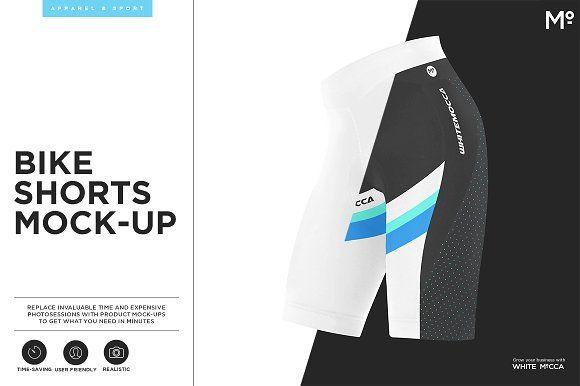 Bike Shorts Mock-up by Mocca2Go/mesmeriseme on @creativemarket