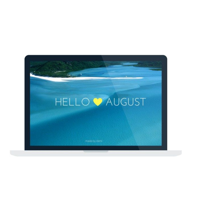 Hello, August {free wallpaper for desktop, tablet and phone} | made by demi