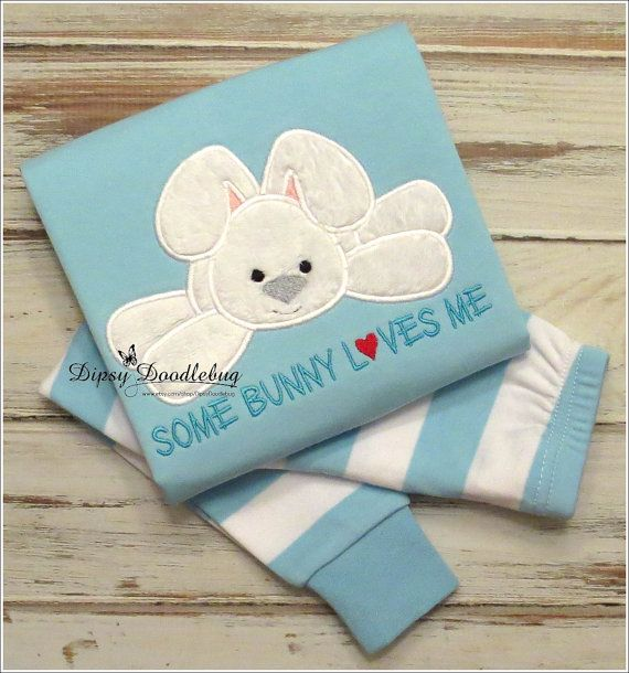 Some Bunny Loves Me Bunny Pajamas  Pajamas For by DipsyDoodlebug