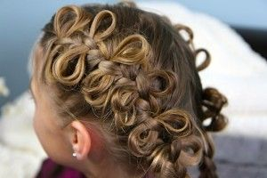 The Bow Braid: You can use The Bow Braid in pretty much any hairstyle as long as there is a three-stranded French or Lace Braid involved. It will work on short hair, medium hair, long hair, layered hair, hair with bangs, combos, etc.