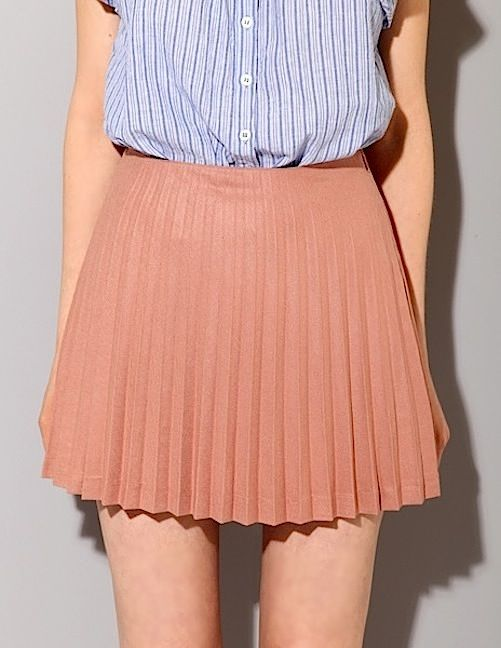 lines + pleats:  Minis, Fashion, Clothing, Style Pinboard, The Mode, Start Posts, Stripes, Blue Blouses, Pleated Skirts